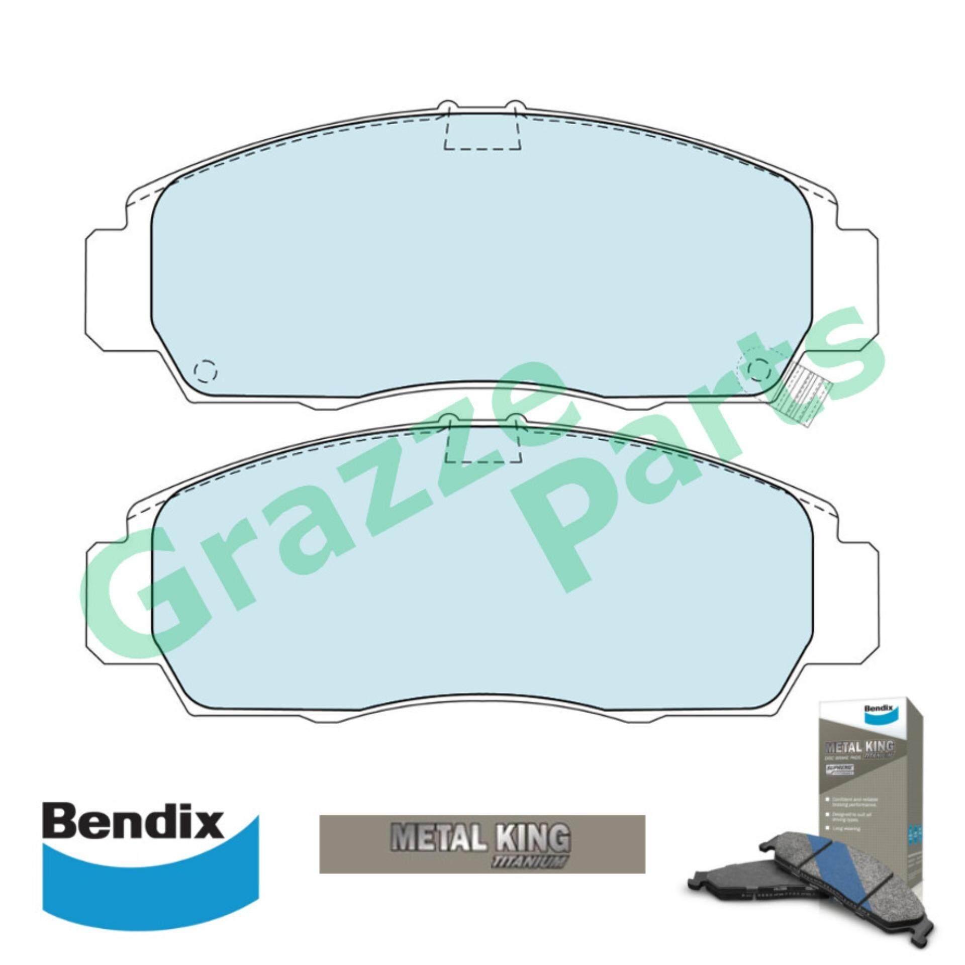 Bendix Metal King Titanium Disc Brake Pad Front for DB1393 - Honda Accord SDA TAO CIVIC FD SNA Stream S7A Odyssey RB1