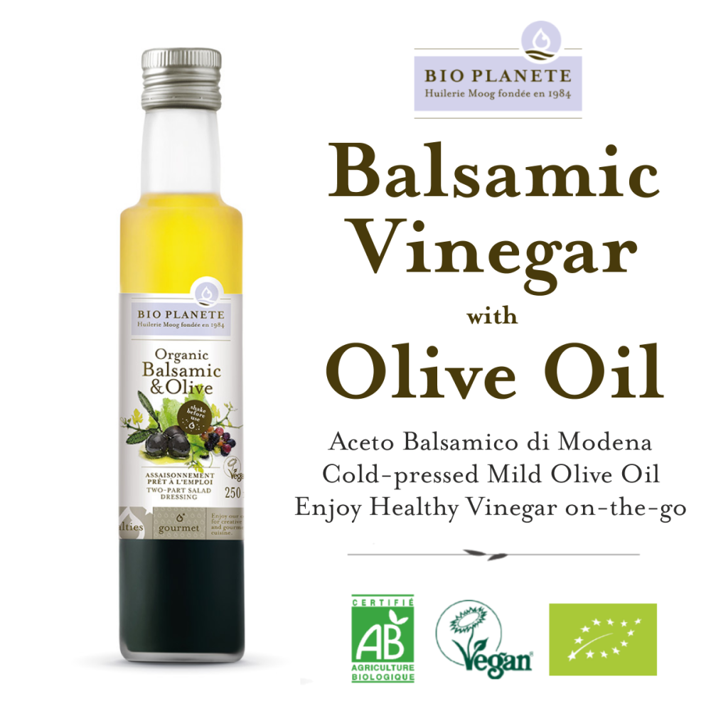 BIO PLANETE Organic Olive Oil and Modena Balsamic Vinegar Dressing Oil (250ml)