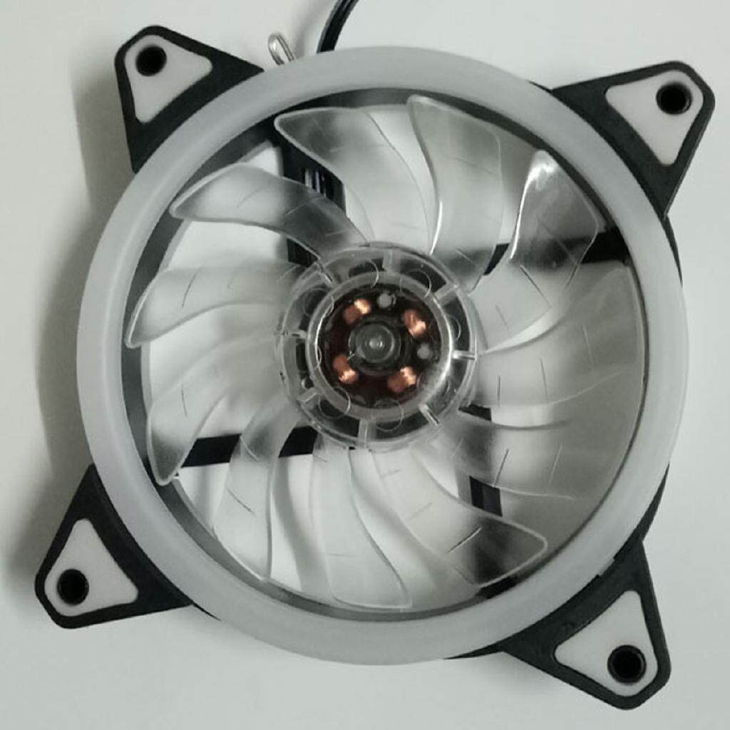 Fans & Heatsinks - 12cm DIY Quiet 120mm RGB LED PC CPU Computer Case Cooling Heatsink Fans - Components