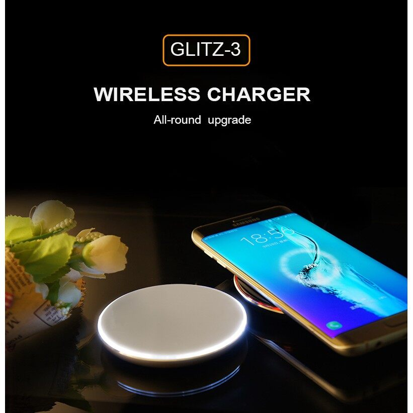Chargers - High Quality HAMTOD Glitz-3F WIRELESS Charger with Breathing Lamp - ROSE GOLD / DARK GREY