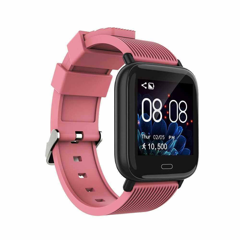 "1.3"" Touchscreen Smart Watch Heart Rate Blood Pressure Blood Oxygen Sedentary Reminder Multi-Sport Mode Bracelet IP67 Waterproof Smartwatches for Men Women Compatible with Android/ iOS Support BT 5.0 (Pink)"