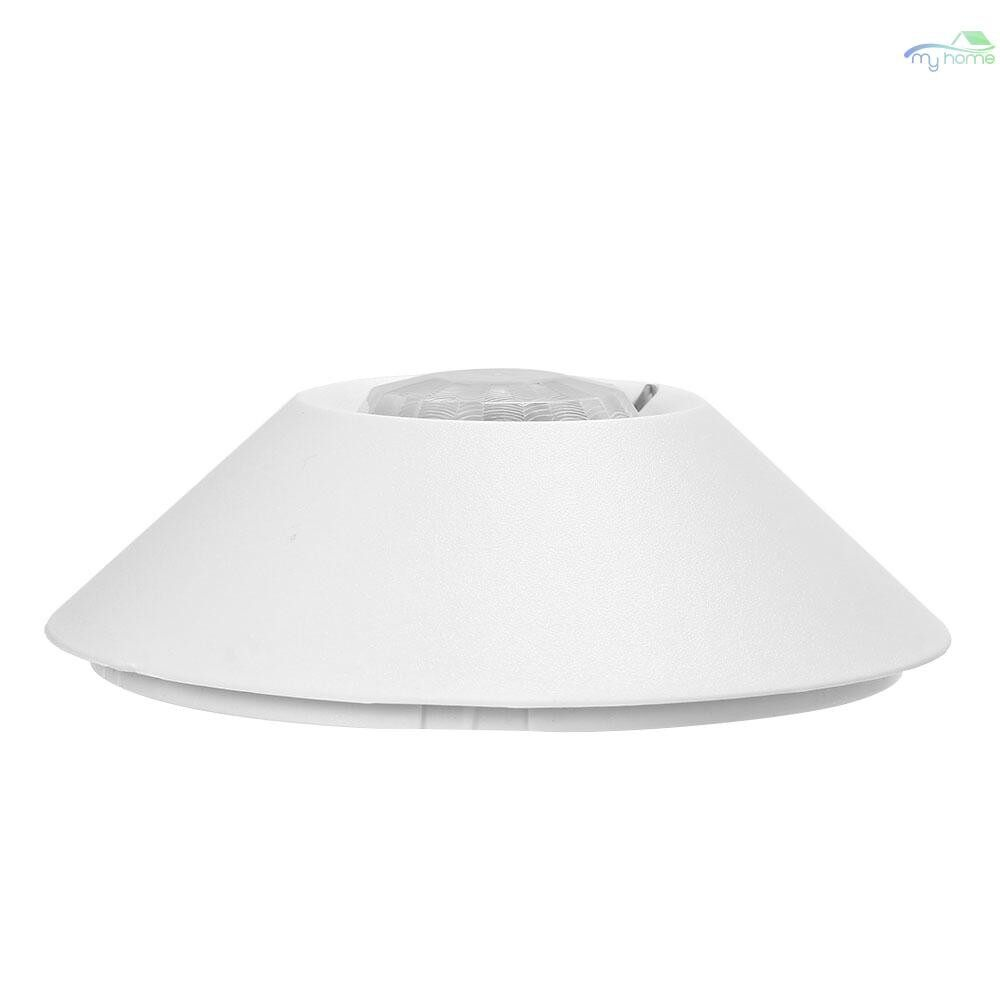 Sensors & Alarms - Wired PIR Motion Sensor 360 Wide Angle Passive Infrared Detector Ceiling Mounting For Home Burglar - WHITE