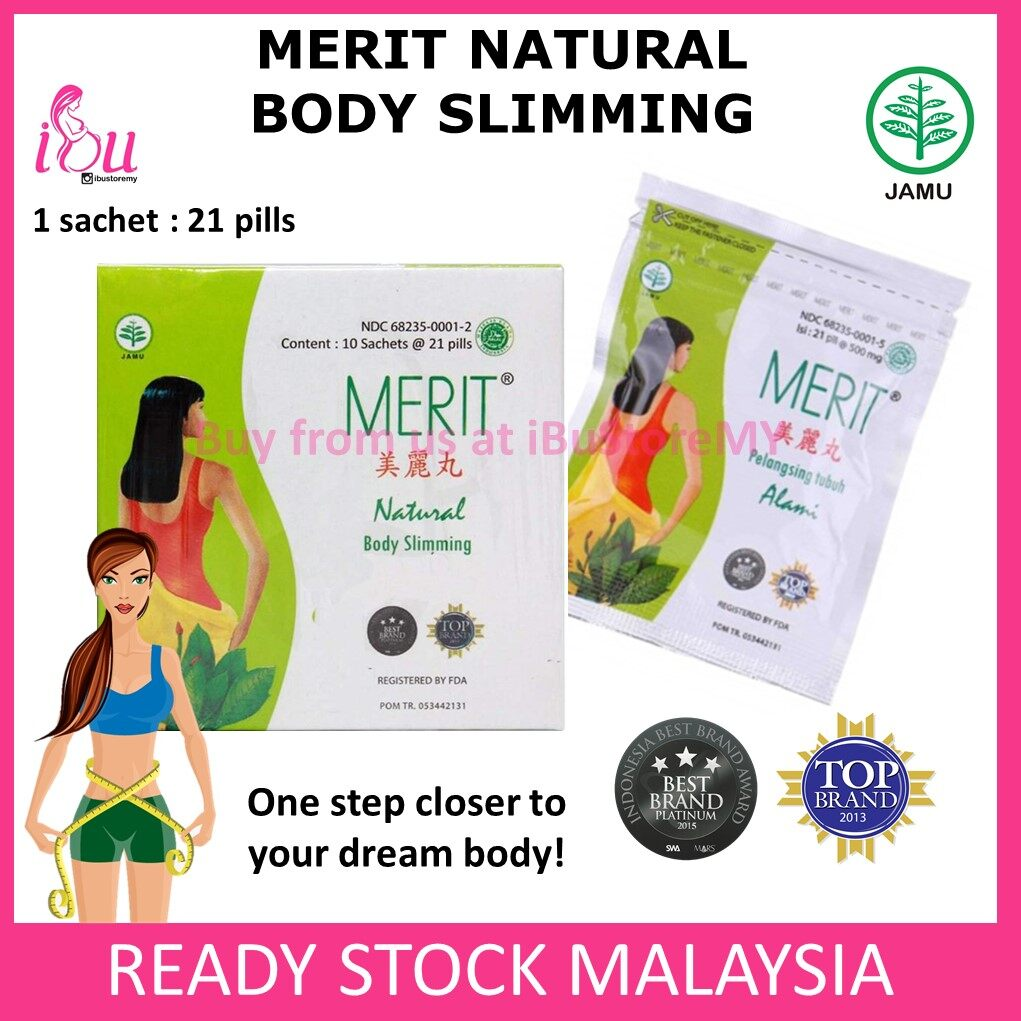 Merit Natural Body Slimming (1 Box) Pil Jamu Indonesia Ubat Pelangsing