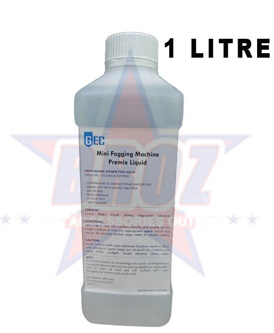 Mini Fogging Machine Premix Liquid With Sirim / Halal / Myhijau (1 Litre)