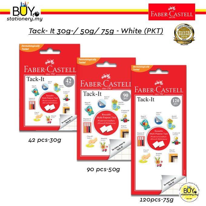 Faber Castell Tack- It 30g- 49 pcs /50g- 90 pcs/75g- 120pcs White (PKT)