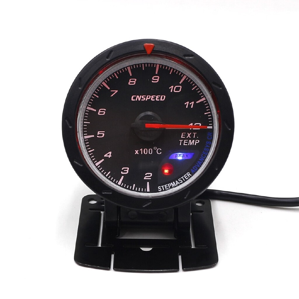 Moto Accessories - 2.5'' 60MM LED Turbo EGT Exhaust Gas EXT Temperture Temp Gauge Meter Pod Holder - Motorcycles, Parts