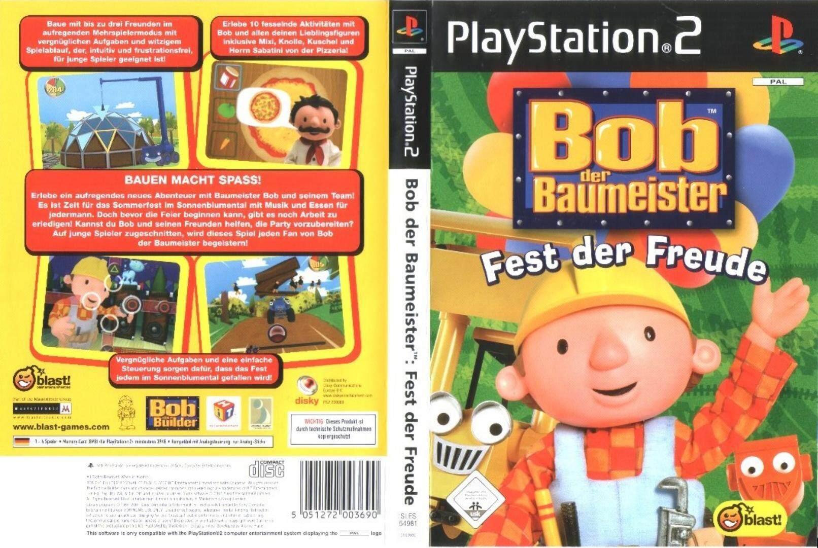 Ps2 Bob The Builder Festival of Fun