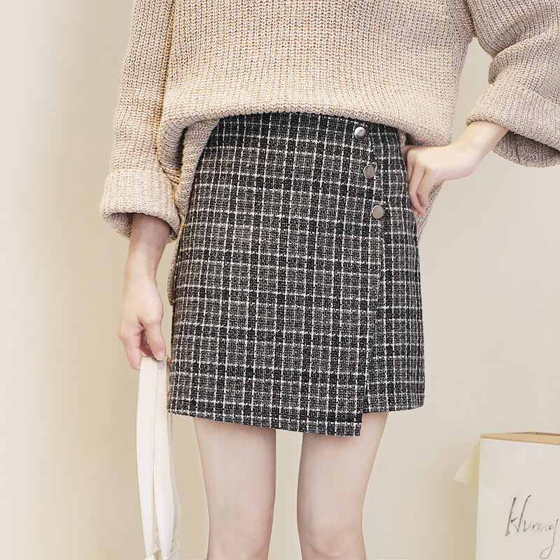 (Pre Order14 Days JYS Fashion Korean Style Women Skirt Collection 533-2084col533-2084--Grey -S