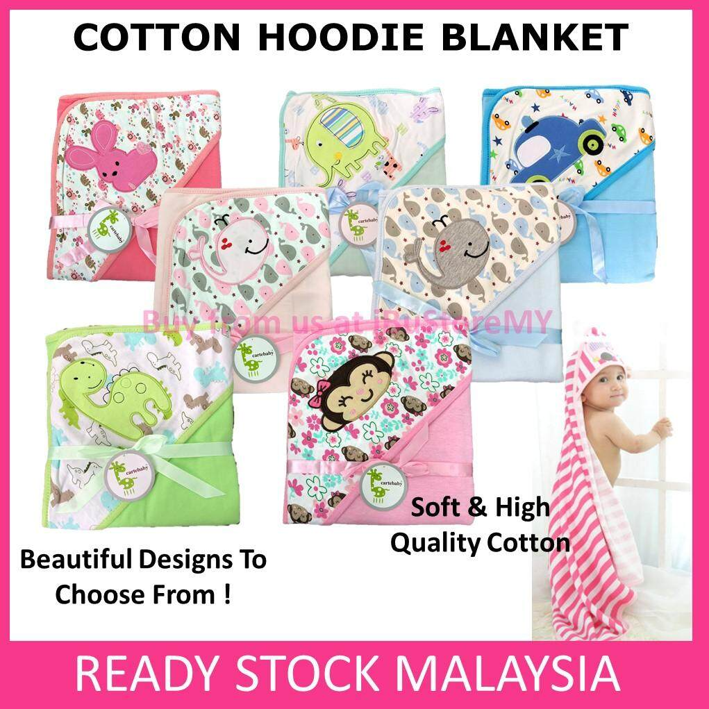 Baby Hooded Blanket Carter's Baby Soft Cotton Hooded Swaddle Baby Wrap Hood Bedung Bayi