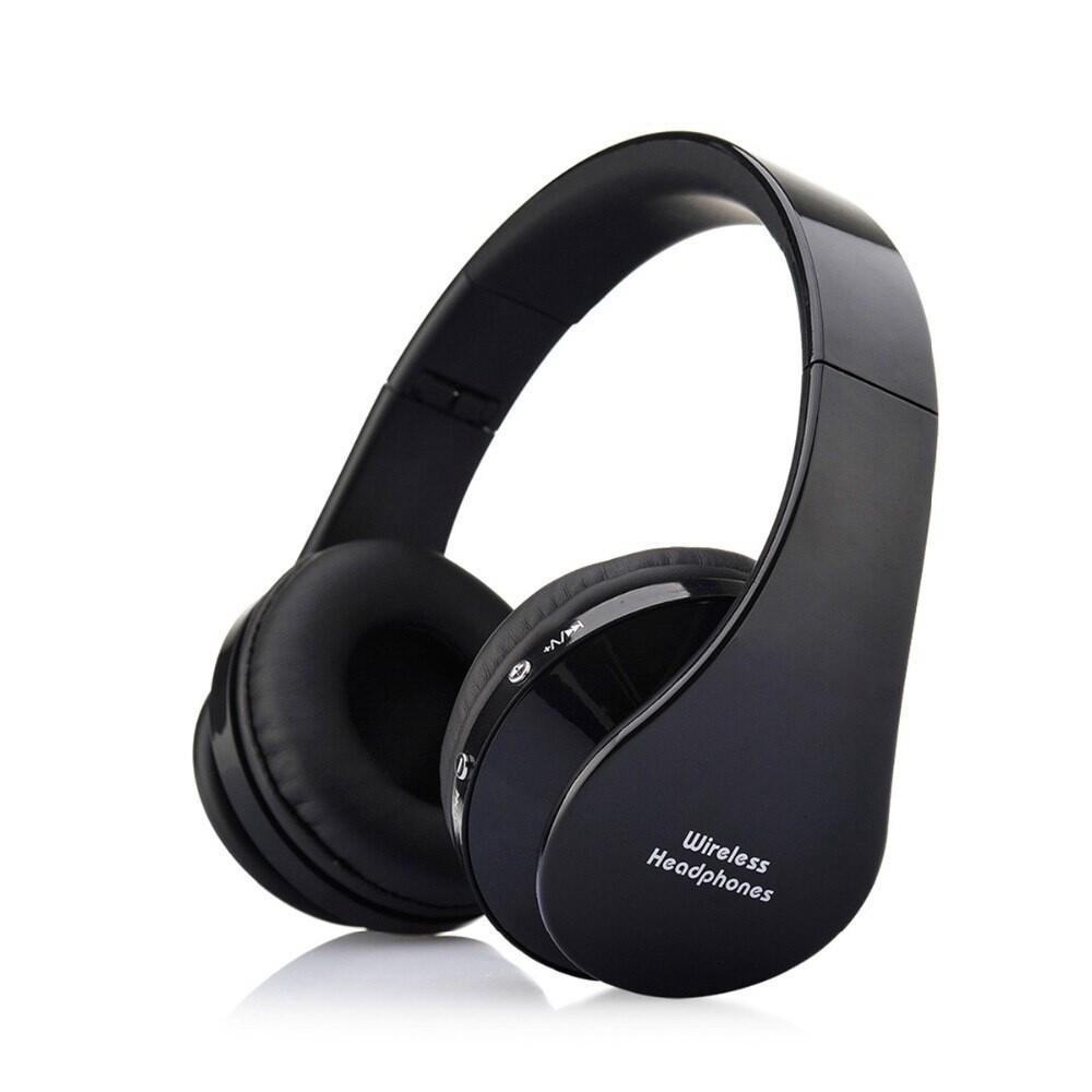WIRELESS BLUETOOTH Earphone PORTABLE Foldable Stereo Headphones microphone Audio - BLACK / RED / WHITE / BLUE