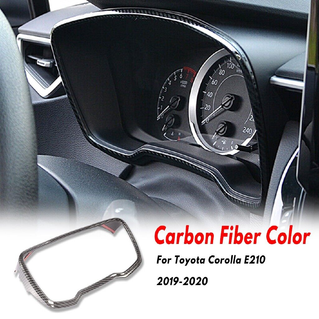 Car Lights - Carbon Fiber Dashboard Console Display Cover Trim For Toyota Corolla E210 - Replacement Parts