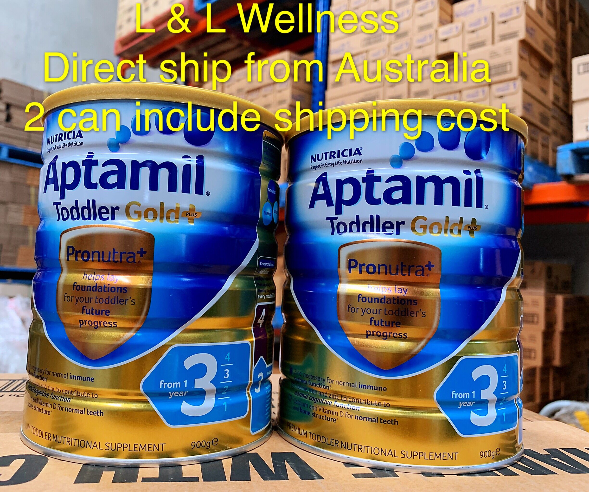 [Pre Order] Australia import Aptamill Gold+ Formula Step 3(from 1 years +) 900g in Twin Pack
