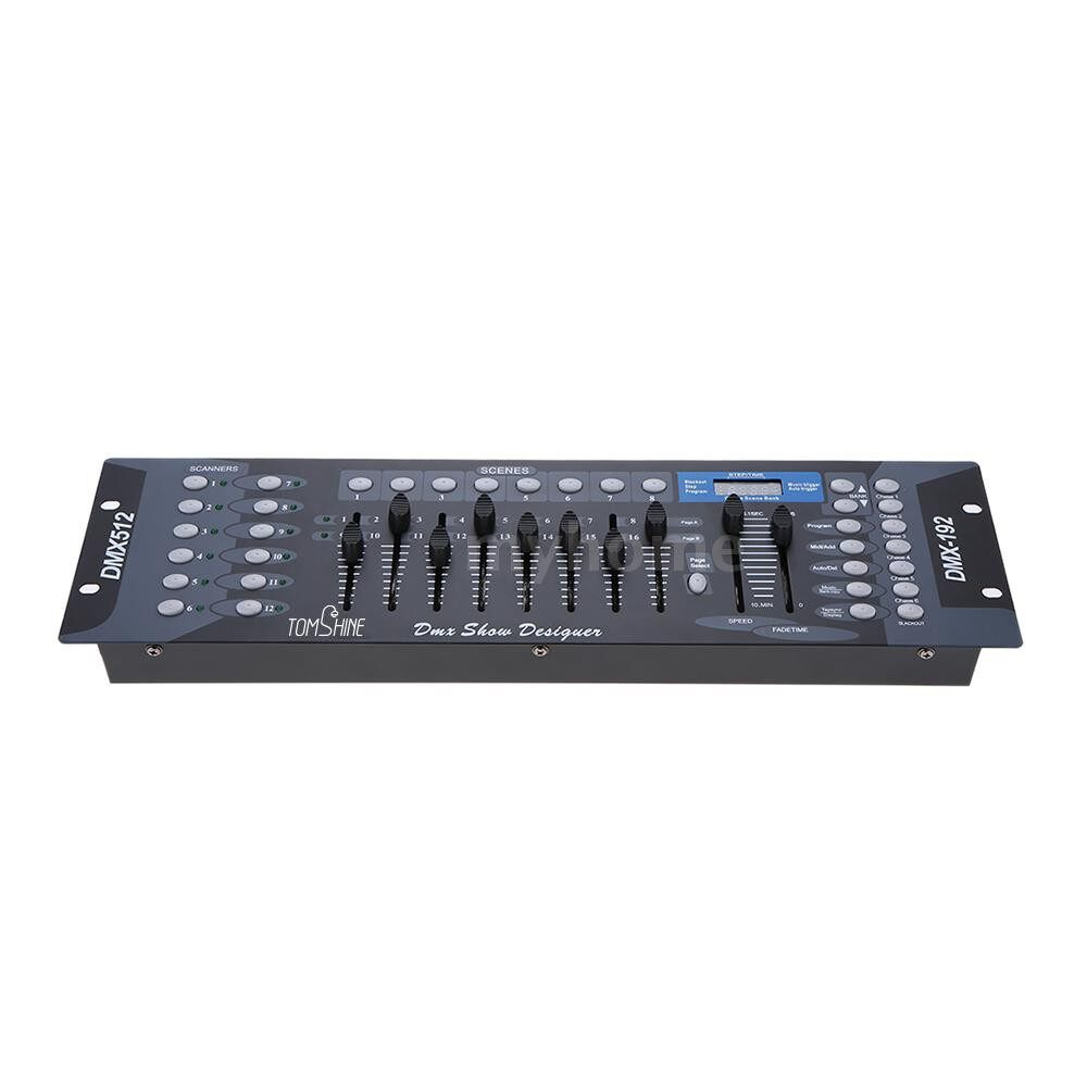 Lighting - 192 Channels Stage Light DMX512 WIRELESS Controller Console with Transmitter Party DJ - Home & Living