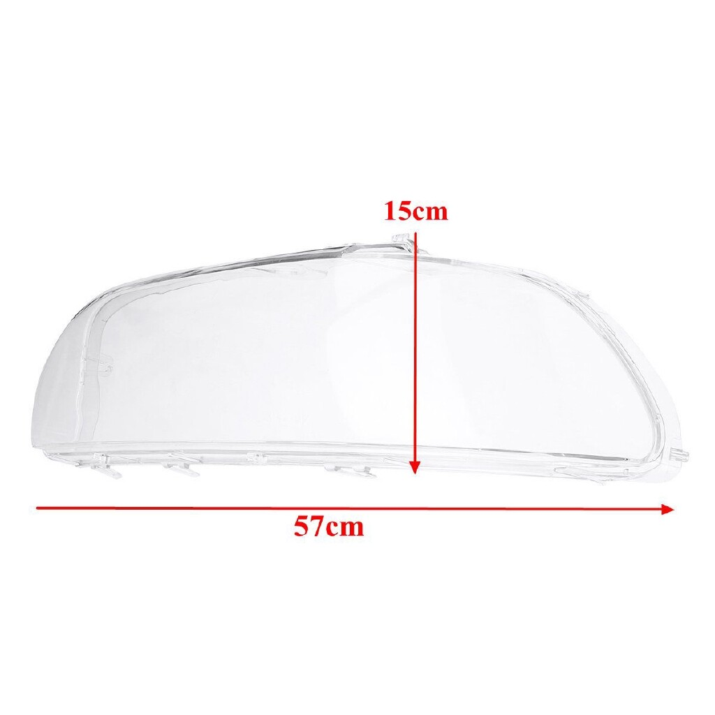 Car Lights - Pair Clear Headlight Headlamp Lens Cover For BMW E39 Facelift 1996-2003 - Replacement Parts