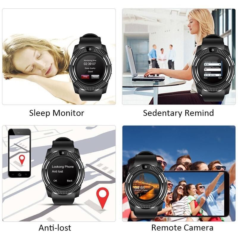 Sportsmart Watch Ip67 Touch Screen Android Waterproof with Camera Sim Card Slot Smart - WHITE+1YEAR WARRANTY / PINK+1YEAR WARRANTY / BLUE+1YEAR WARRANTY / BLACK+1YEAR WARRANTY / RED+1YEAR WARRANTY / SILVER+1YEARWARRANTY