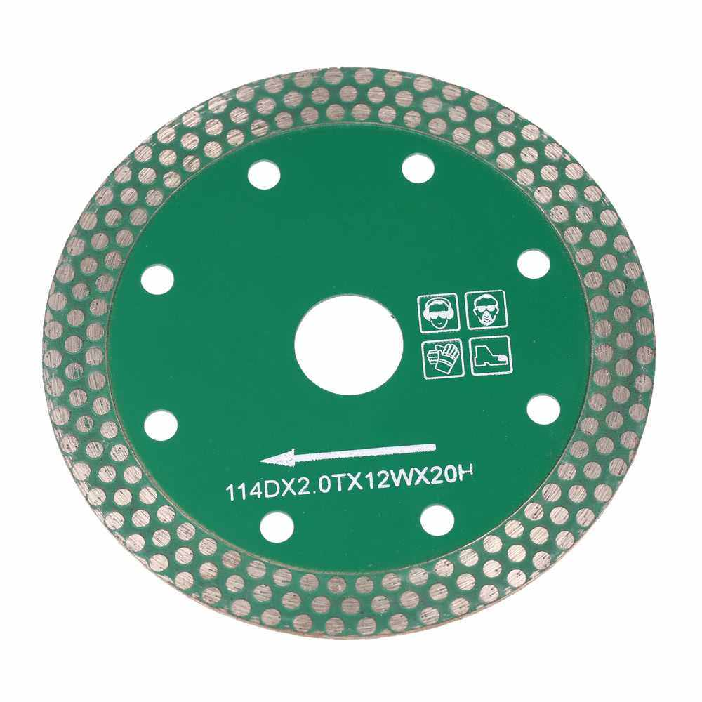 114*2.0*20mm Dry Cutting Diamond Saw Blade with 8 Cooling Holes 20mm Inner Diameter Stone Cutting And Grinding For Angle Grinder Architectural Engineering Architect