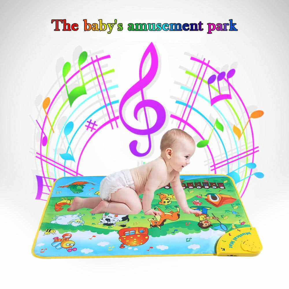 Best Selling Colorful Musical Learning Mat Animal Farm Flash Music Carpet Blanket Touch Toy for Baby Kids 71 * 49 CM (Standard)