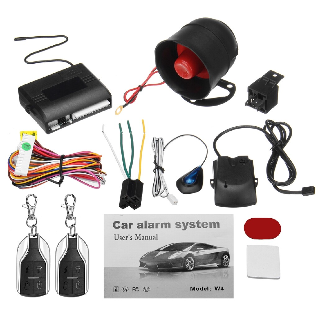 Car Accessories - 1-Way Universal Car Security Alarm System Central Locking 2 Remote Keyless Entry - Automotive