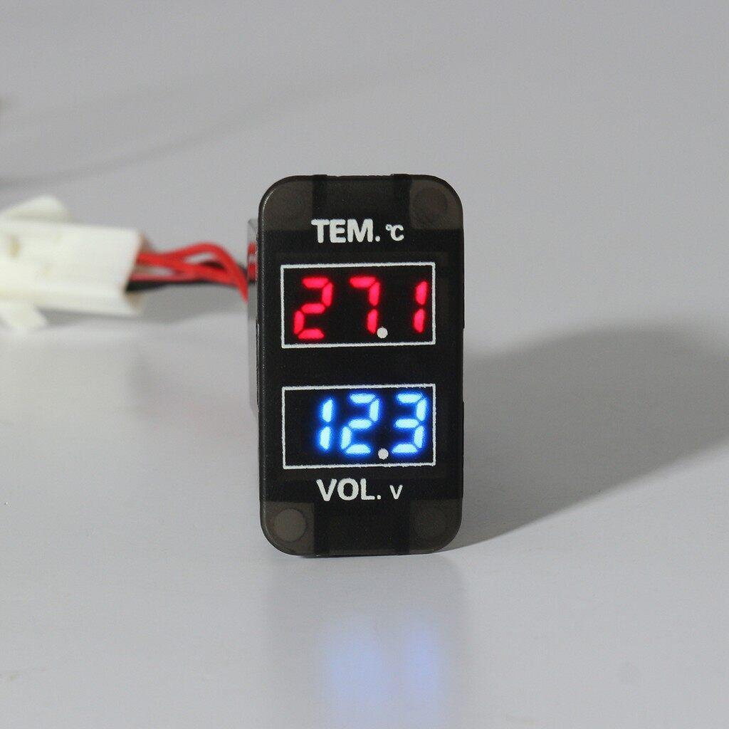 Tyres & Wheels - LED Digital Voltmeter Temperature Voltage Temp Gauge For Toyota FJ Land Crui - Car Replacement Parts
