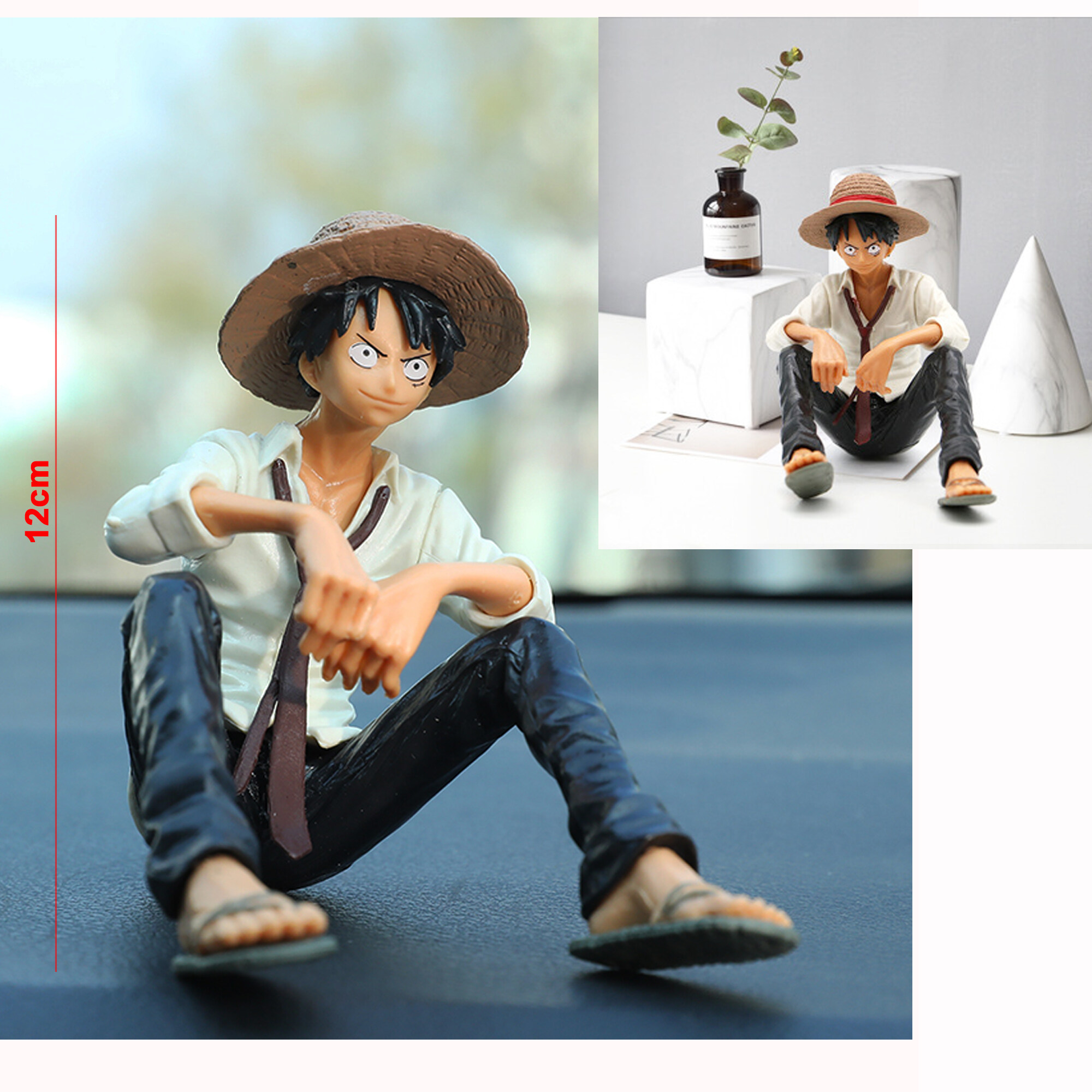 Pre-order: Anime One piece Luffy Action Figure Model Toy Collectible for Car decoration Computer Case decoration