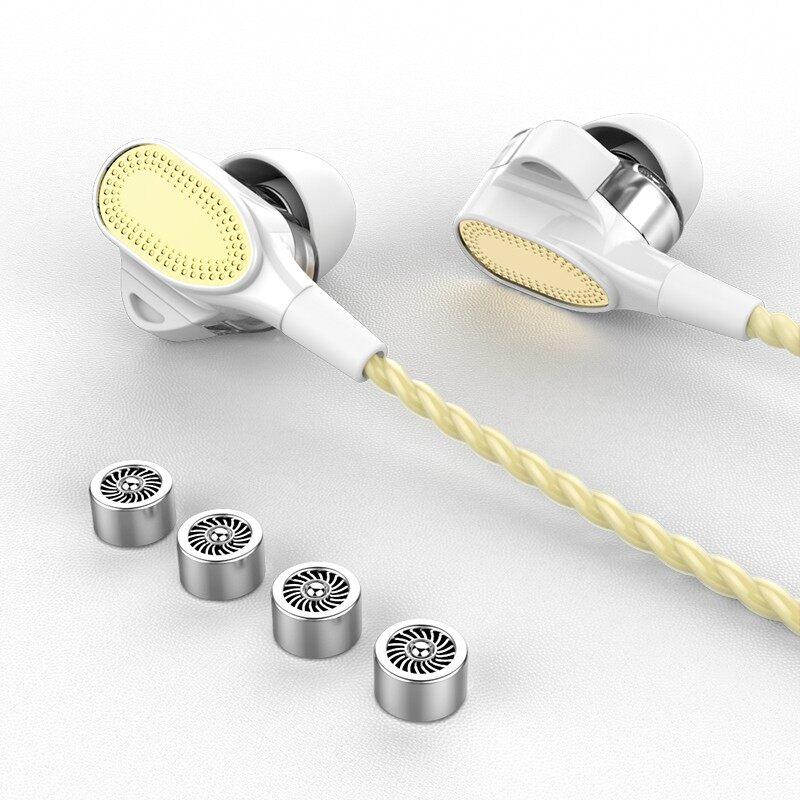 In-Ear Earphone Head SET Wried Earphones Control Stereo Sound With Mic Earphones - GOLD / SILVER / RED / BLACK