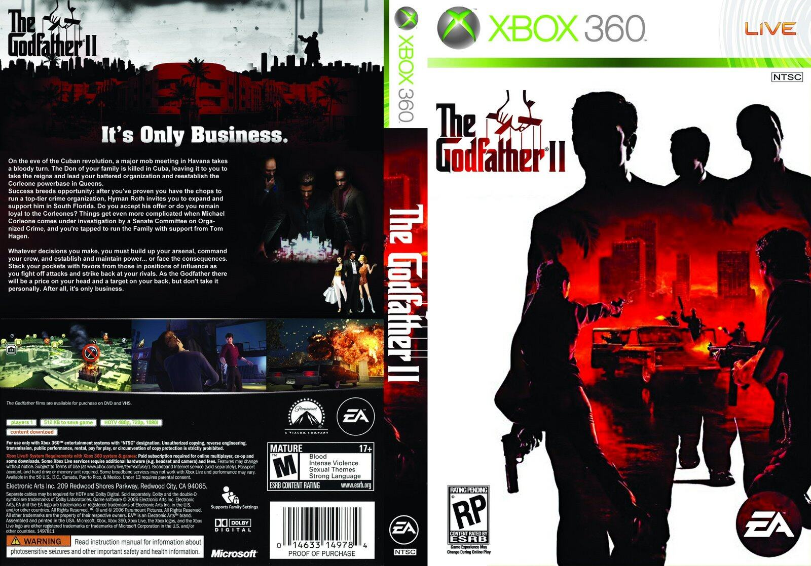 XBOX 360 The Godfather 2