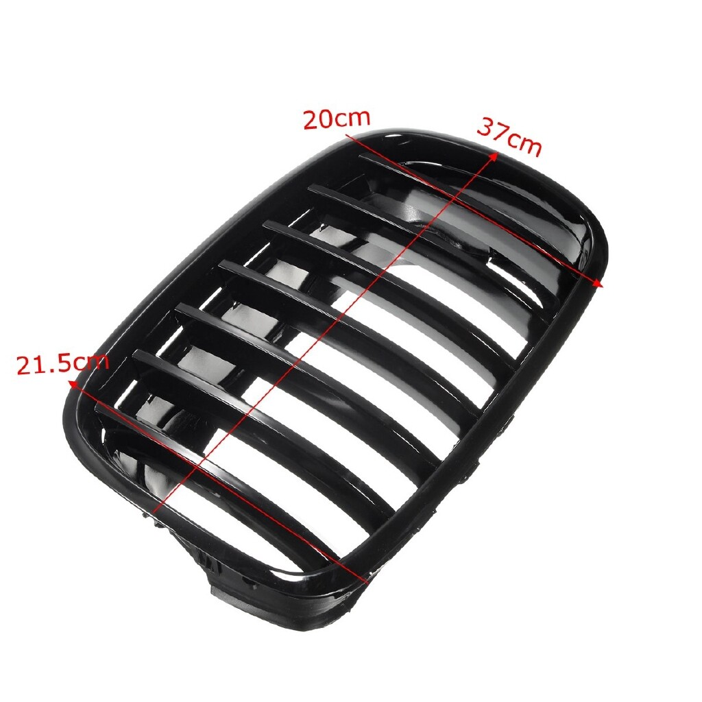Automotive Tools & Equipment - For BMW E70 E71 X5 X6 2007-2013 Gloss Black Front Bumper Hood Grilles Grille - Car Replacement Parts