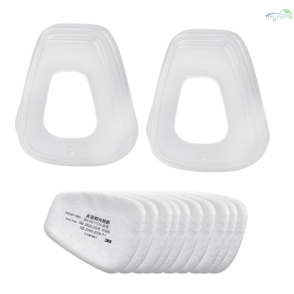 Protective Clothing & Equipment - 3M 5N11 10 PIECE(s) Filter Cotton & 2 PIECE(s) 501 Filter cover N95 Particulate Filter for Gas Mask Respirator - 02 / 01