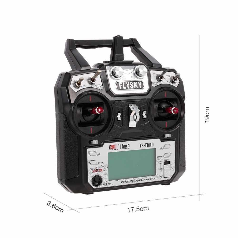 Best Selling FLYSKY FS-TM10 10CH 2.4GHz AFHDS 2A Remote Controller Transmitter with iA10B Receiver FS i6X Upgrade for FPV Racing Drone RC Quadcopter Airplane 450 Helicopter (Standard)