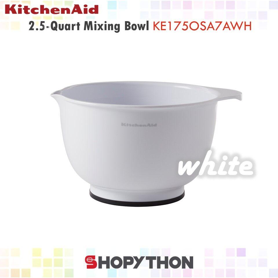 KitchenAid 2.5-Quart Mixing Bowl KE175OSA7AWH (2.35L) White Classic Multipurpose Plastic Mangkuk Adunan Baking Bakeware