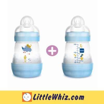 MAM: Easy Start Anti-Colic Bottle 160ml - 2pcs - Blue Rhino