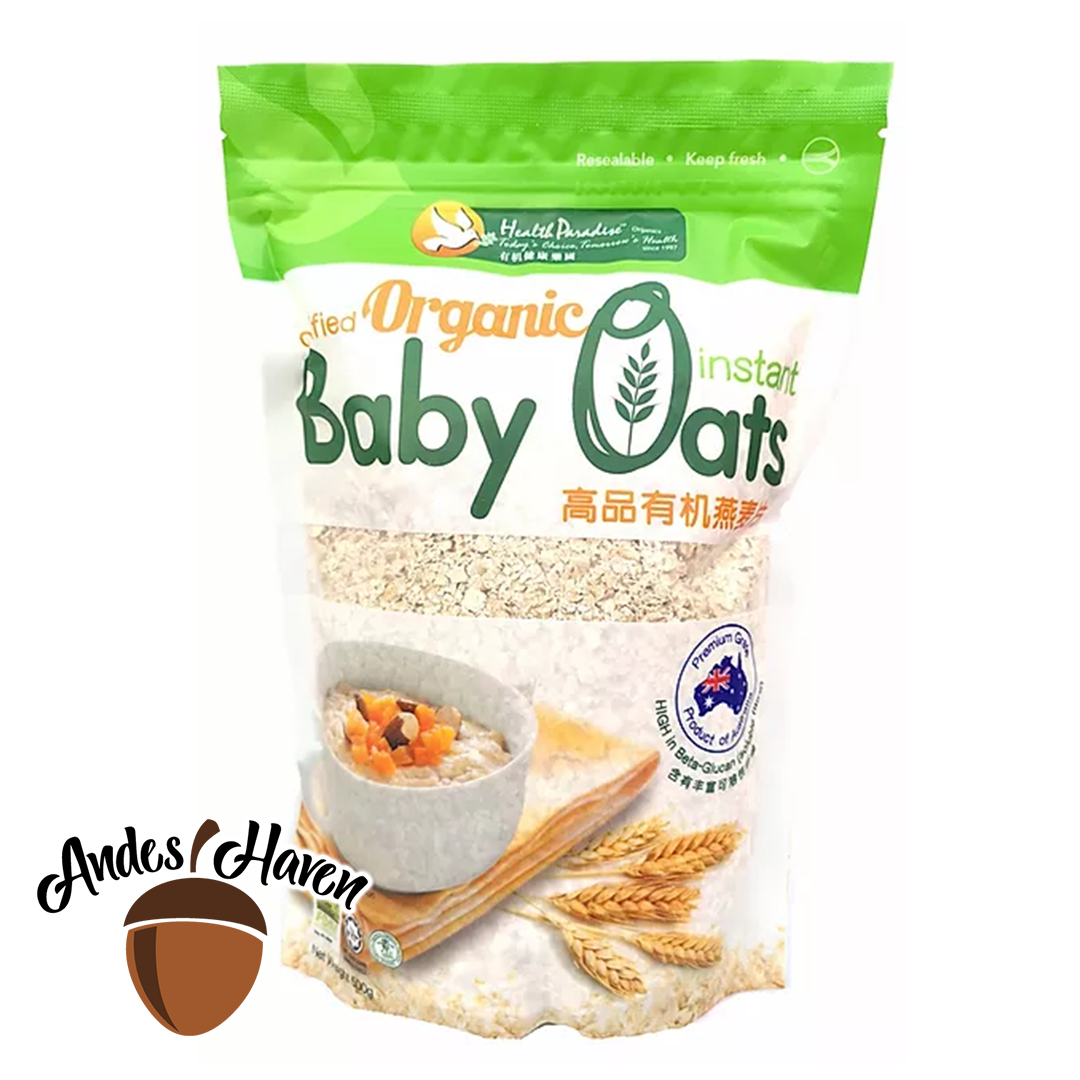 【Health Paradise】Certified Organic Instant Baby Oats - 500g