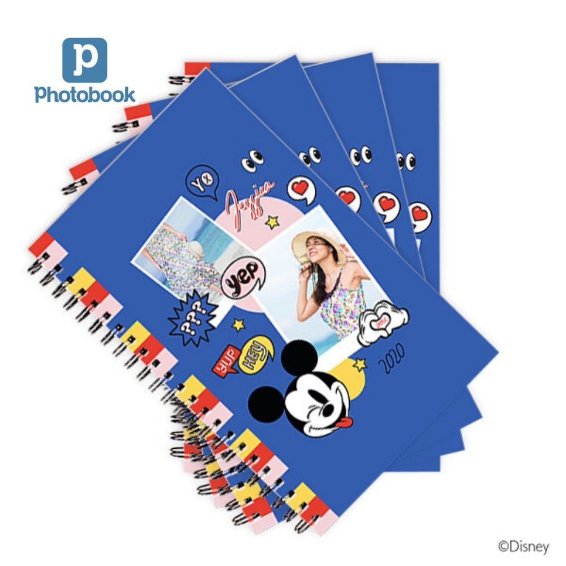 [e-Voucher] Photobook Personalized Disney Mickey Mouse Notebook 5 x8 - 4 Identical Copies