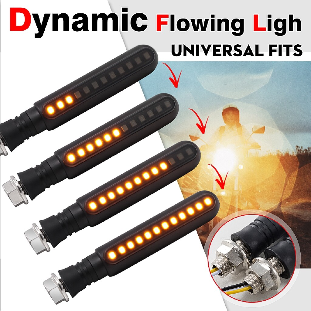 Car Lights - 2x Dynamic Consequential Flowing Motorcycle LED Turn Tignal Indicator Light Lamp - Replacement Parts