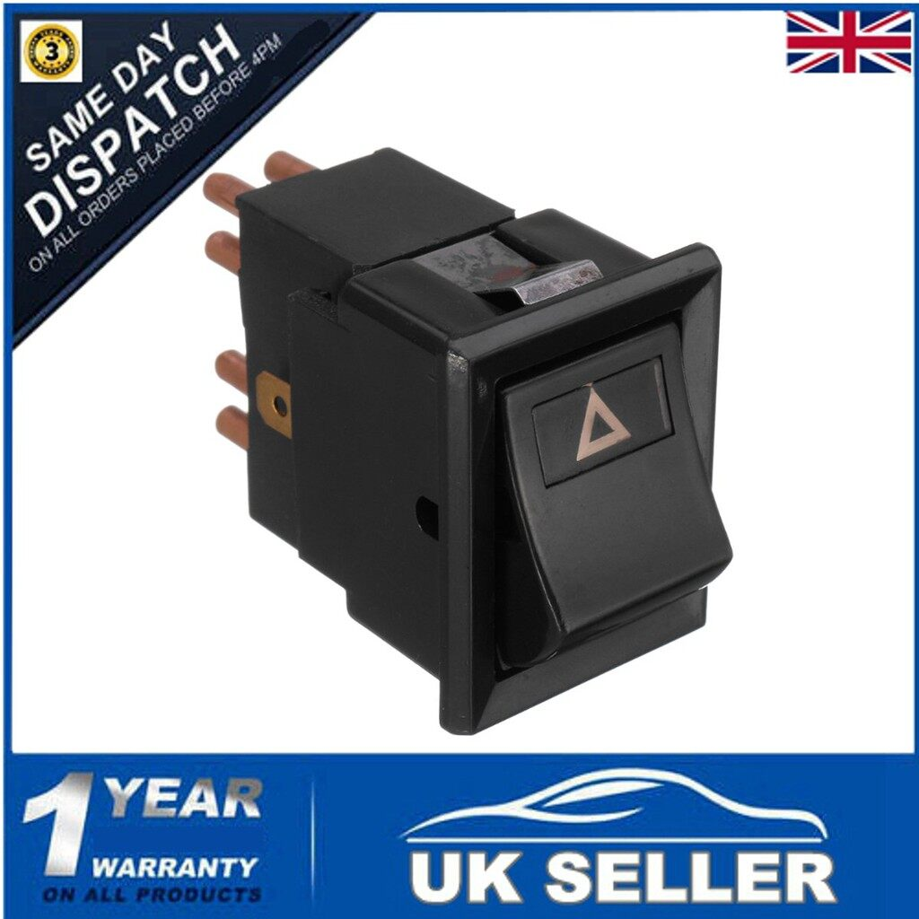 Car Lights - HAZARD WARNING LIGHT LAMP SWITCH For LAND ROVER DEFENDER 90 130 YUF101490 - Replacement Parts