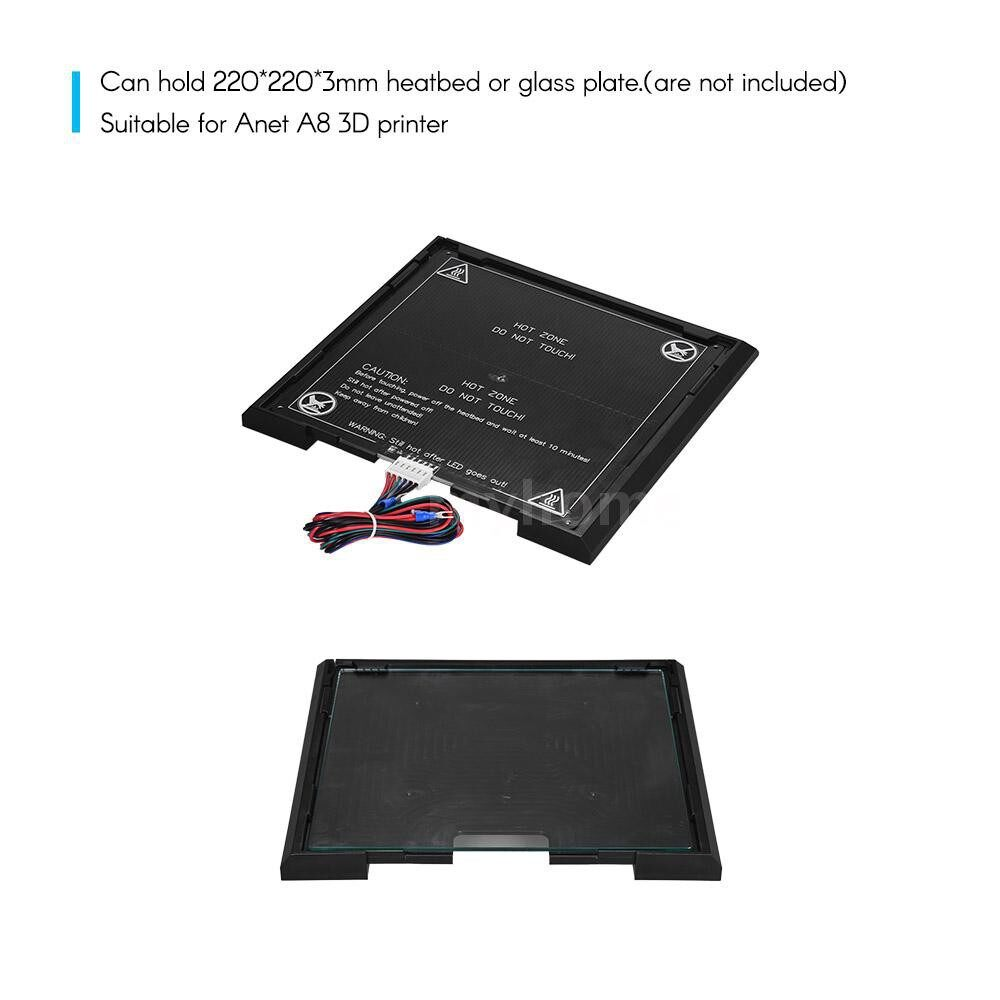 Printers & Projectors - 3D Printer Removable Platform HeadbedBed Holder for Anet A8 3D Printer - BLACK
