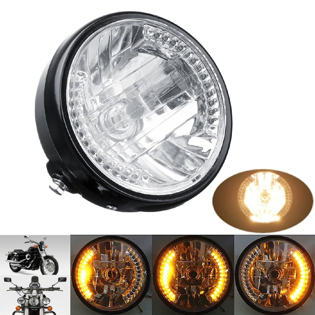 Moto Accessories - 2250LM 7inch Motorcycle ATV Headlight with Turn Light - BRING BRACKET / WITHOUT BRACKET