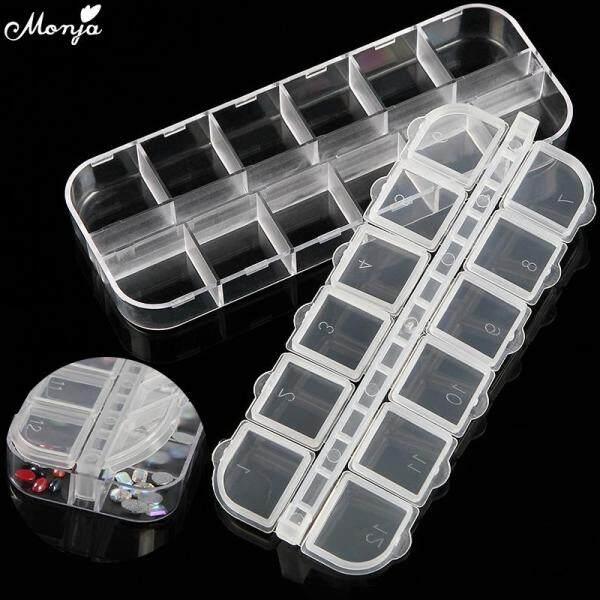 Khay đựng 12 ô làm bằng nhựa dùng để đựng đá đính/ hoa khô hoặc làm hộp cất trang sức (kích thước 13*5*1.5cm) - INTL giá rẻ