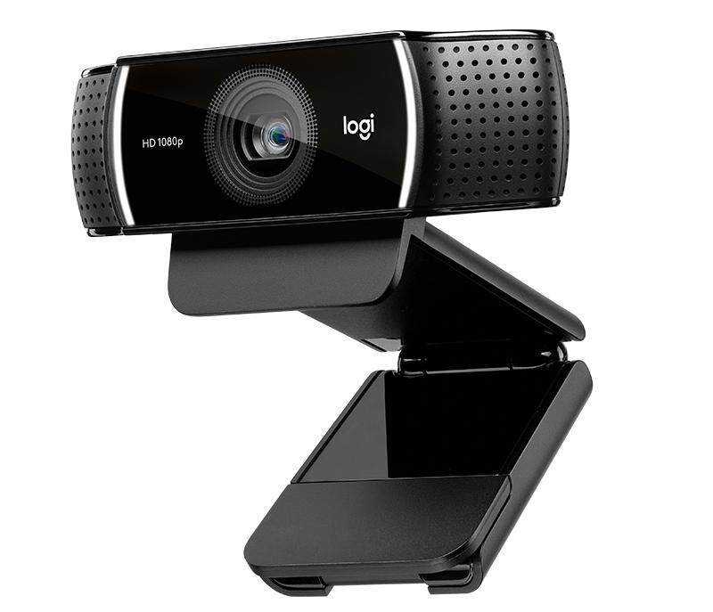 Logitech C922 Pro Stream Webcam (960-001090) with 1080p Full HD, Built-In Mic, Autofocus, Plug and Play