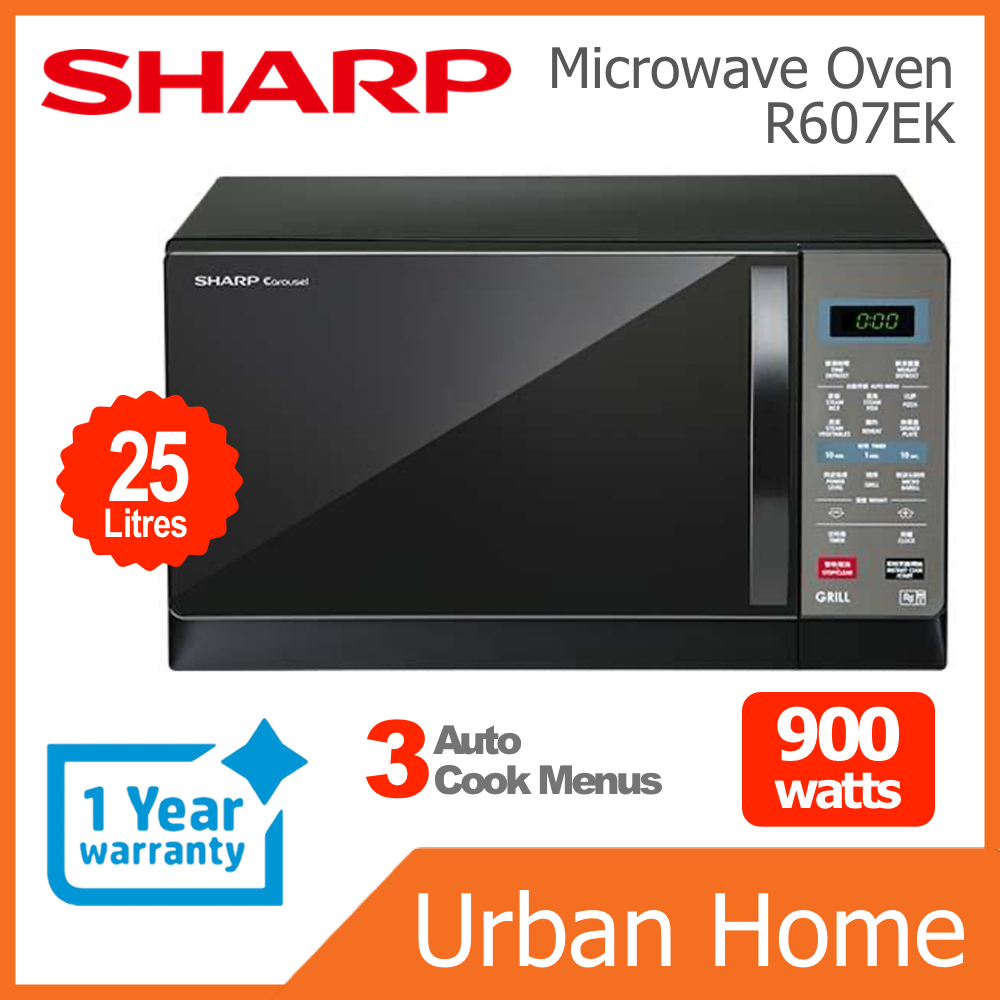 SHARP 25L 900w Digital Microwave Oven with Grill (R607EK)
