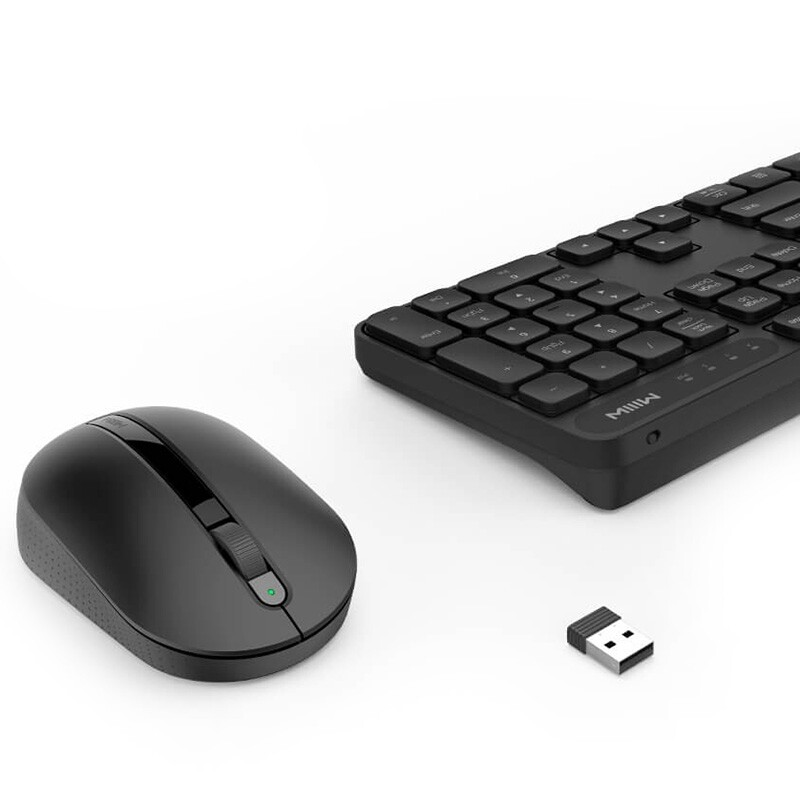 Laptops - ORIGINAL Xiaomi MIIIW WIRELESS Keyboard & Mouse SET for Windows/Mac One-button Switching - Computer & Accessories