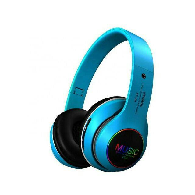 Wireless Stereo Headphones St-L63 (New Arrival) Special Price BLUE