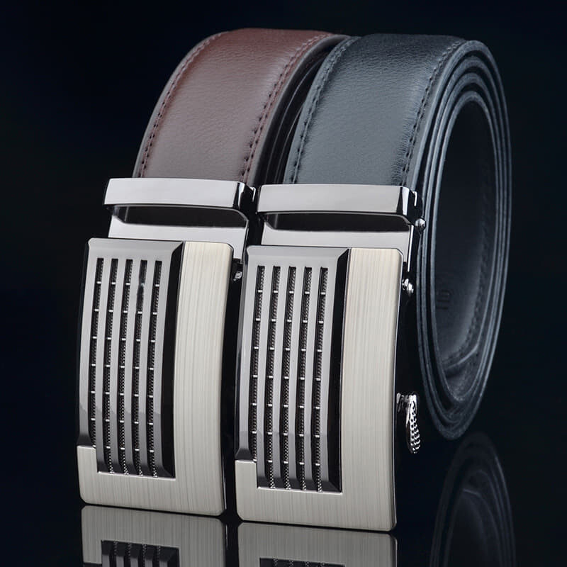 (NEW) 100% Cowhide Leather Belt 2020 Korean Series 3D Men Automatic Buckle Belt [Msia Warehouse Direct] Perfect Gift For Love One (can request box) Laser Zinc Alloy Suit Casual & Formal Wear Black Brown Belt Long Lasting Tali Pinggan Lelaki Kulit Halal