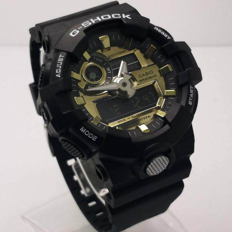Casio G-Shock_GA 700 Fashion Fully Autolight Sports Resin Watch Mineral Glass Dual Time Display Auto Calender Full Set With Box & Paper Bag Stop Watch Day+Date World Time Alarm