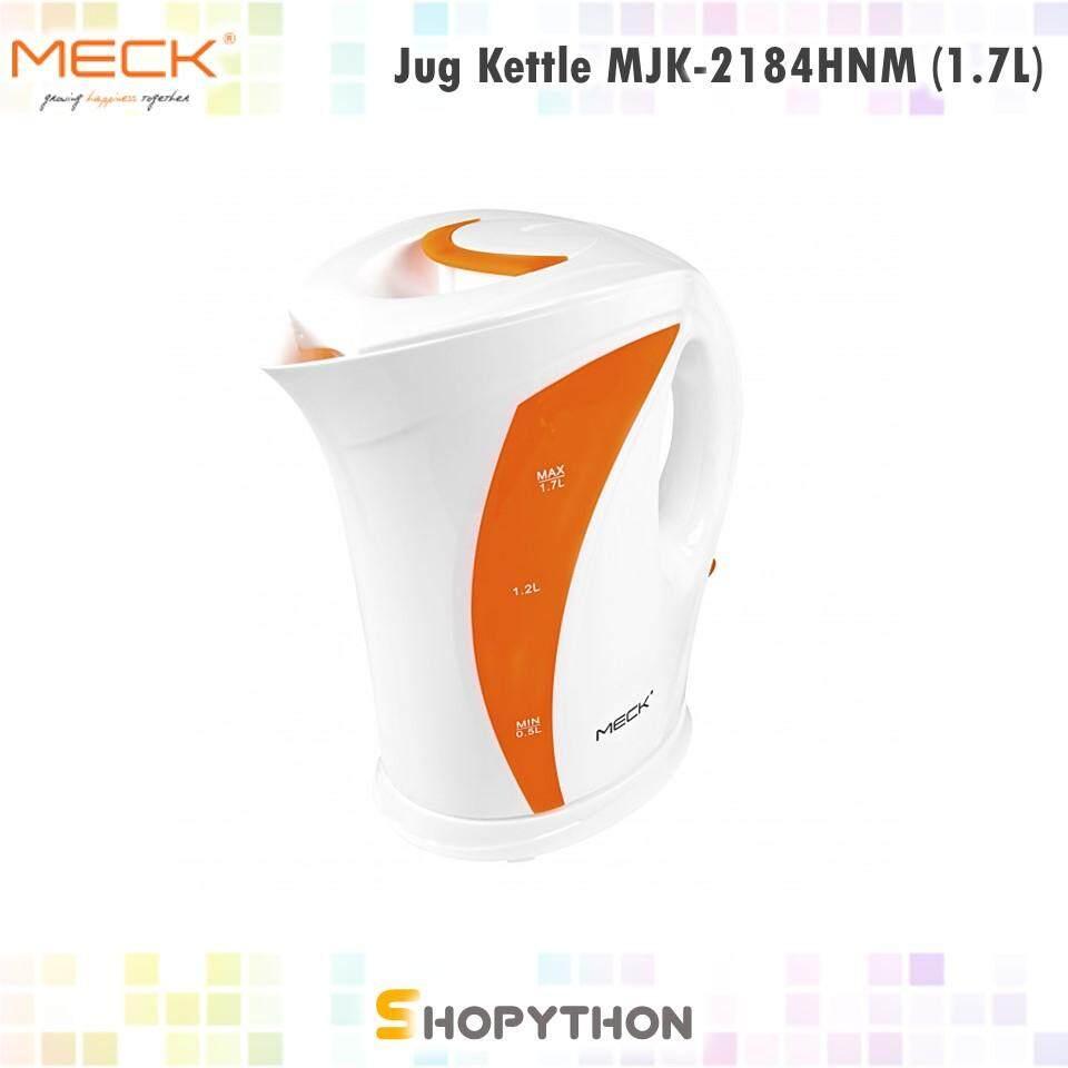 MECK Jug Kettle MJK-2184HNM (1.7L) Water Level Indicator Plastic Electric Heater Pemanas Air Ketel Eletrik Travel Murah