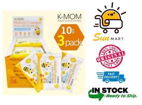 K-MOM - NATUREFREE BASIC WET WIPES 3 x 10s