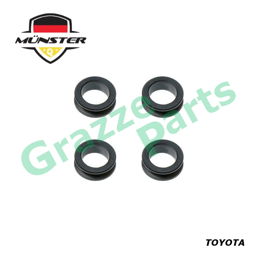 (4pcs) Münster Fuel Injector Grommet Bush Seal 90480-13005 for Toyota Corolla AE101 AE111 1.6 16V 4A-FE