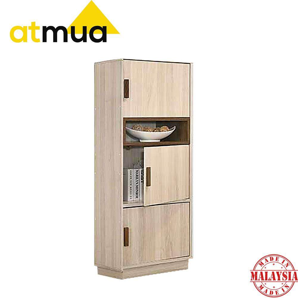 Atmua Tiso 3 Door Bookcase Book Shelf Book Cabinet Book Rack Storage Cabinet Home Office School 2019 New Product Modern Design High Quality