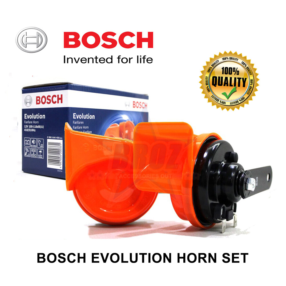 Bosch Evolution Fanfare Horn Universal Car Horn 0986AH0459 2pc Set
