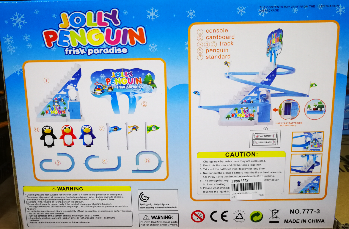 Kids Toy - Cutie Dolphin & Penguin Slide baby toys